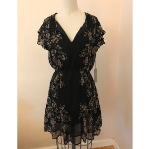 NWT floral little black dress